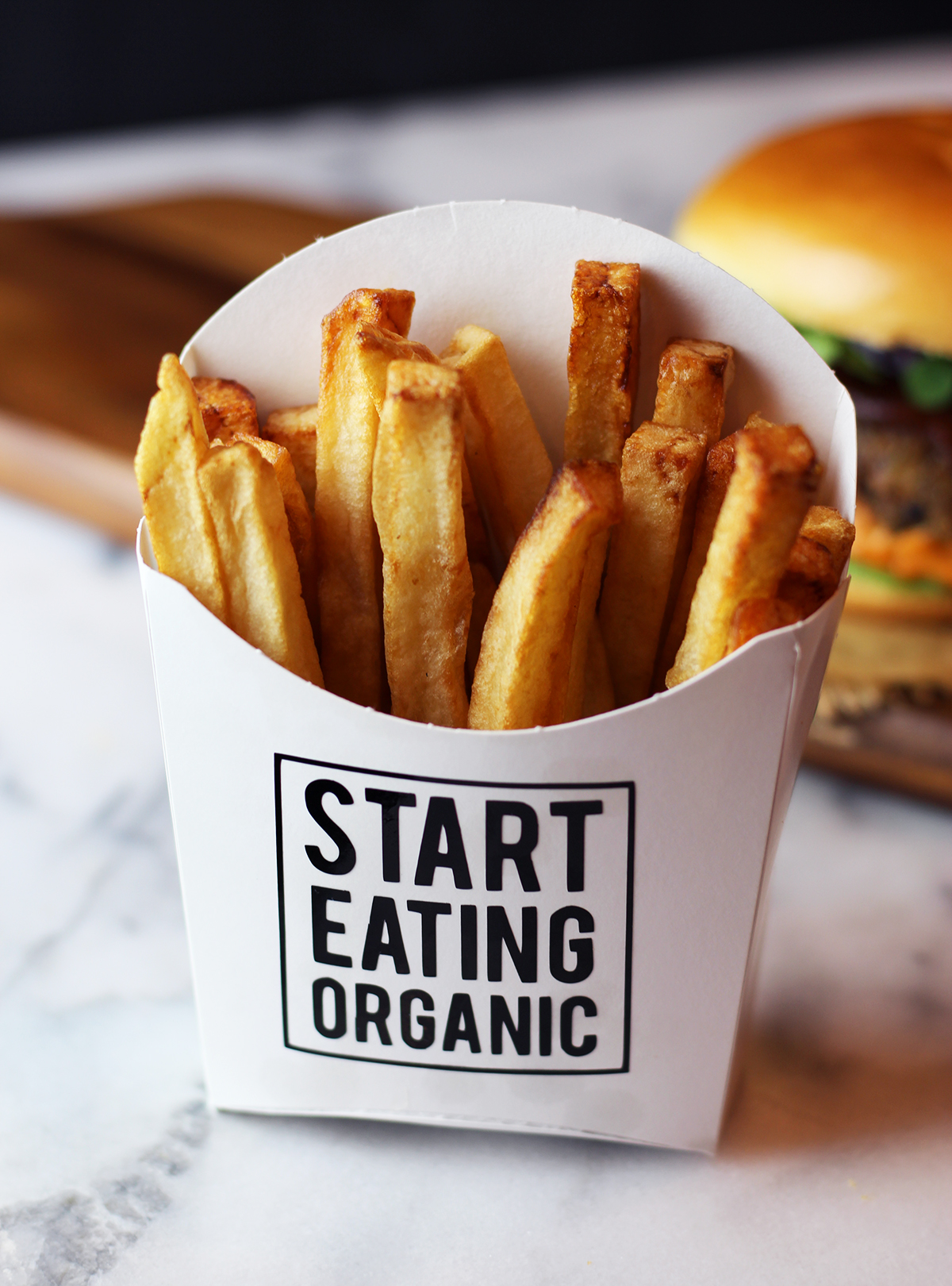 french fry box branding